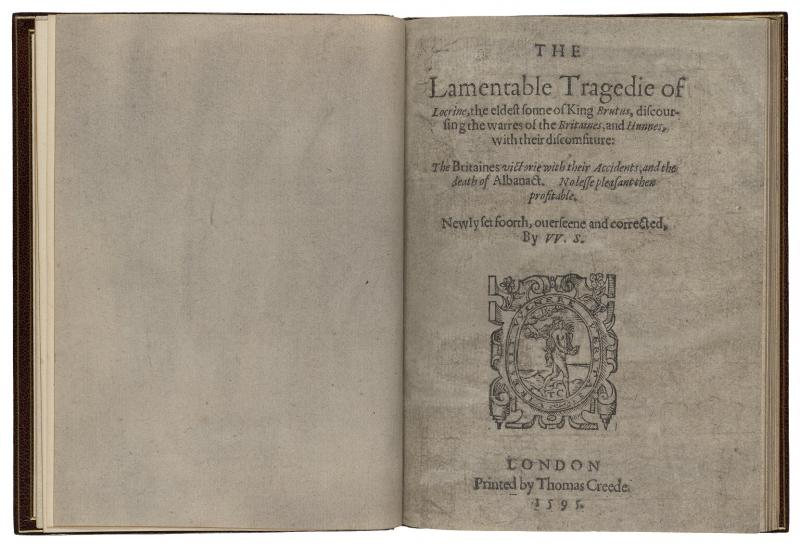 Locrine First Edition Shakespeare Documented