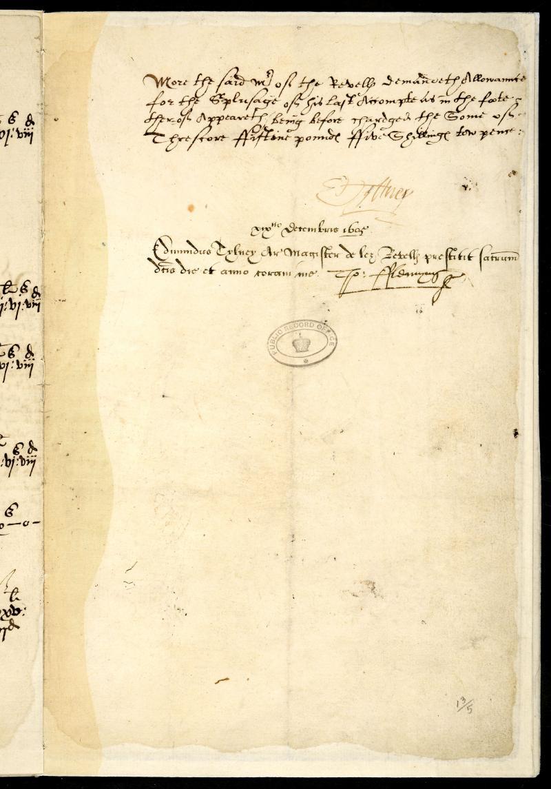 Account of Edmund Tylney, Master of the Revels, listing