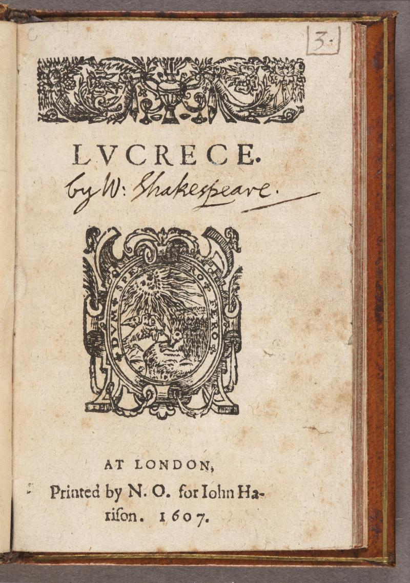 Lucrece, fifth edition | Shakespeare Documented